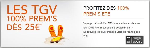 VOYAGES SNCF Billets TGV Prems à partir de 25 euros